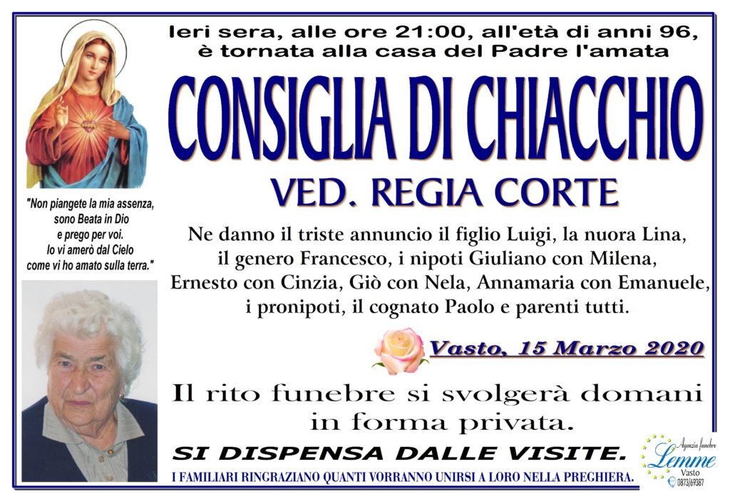CONSIGLIA DI CHIACCHIO