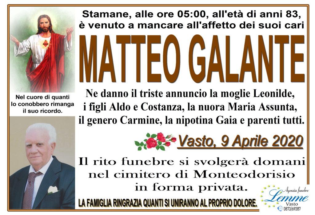 MATTEO GALANTE