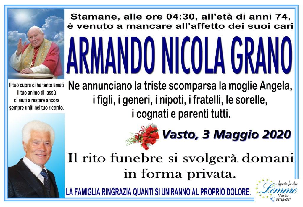 ARMANDO NICOLA GRANO