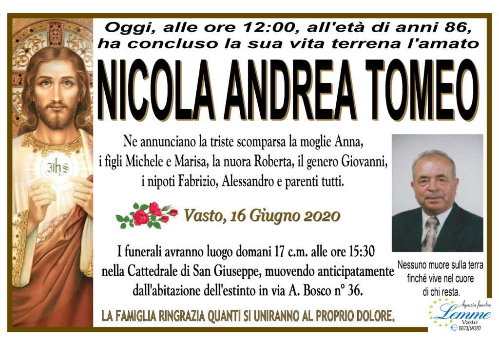 NICOLA ANDREA TOMEO