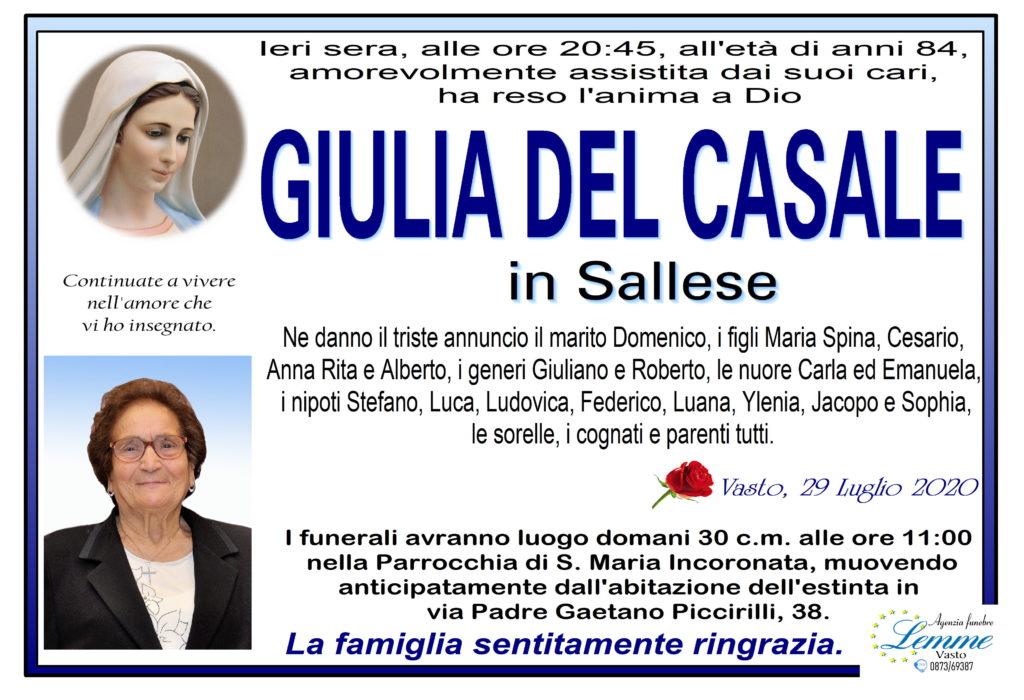 GIULIA DEL CASALE