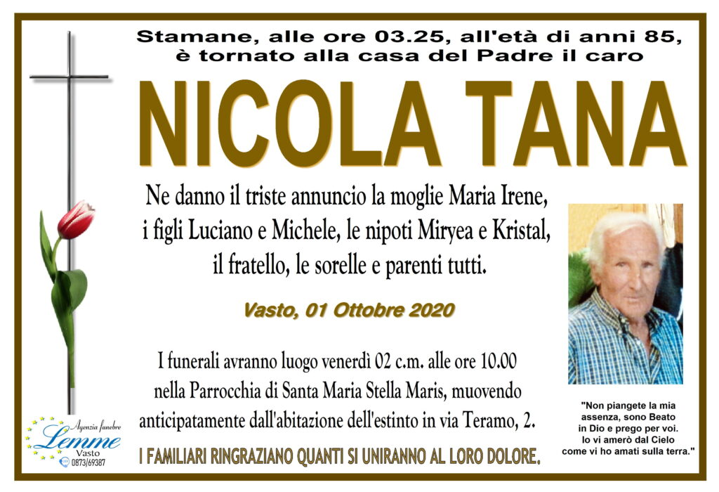 NICOLA TANA