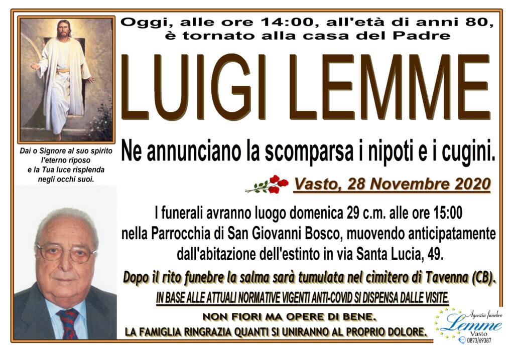 LUIGI LEMME