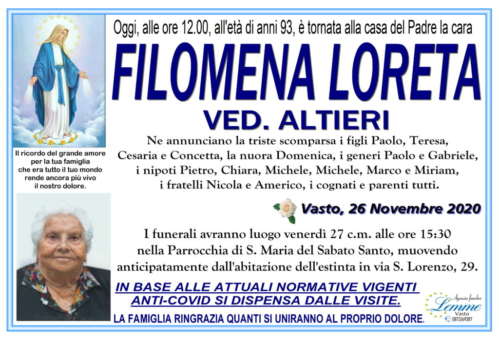 FILOMENA LORETA