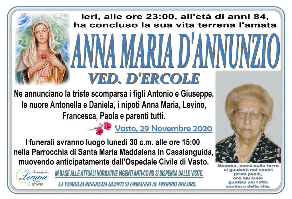 ANNA MARIA D'ANNUNZIO