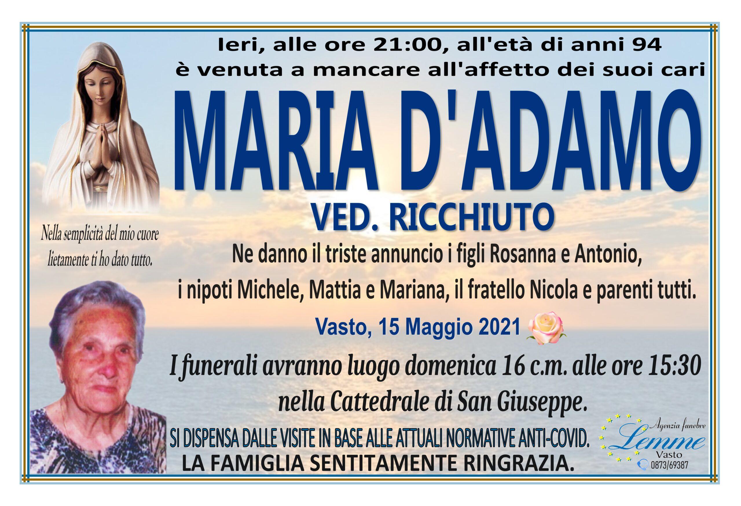 MARIA D'ADAMO