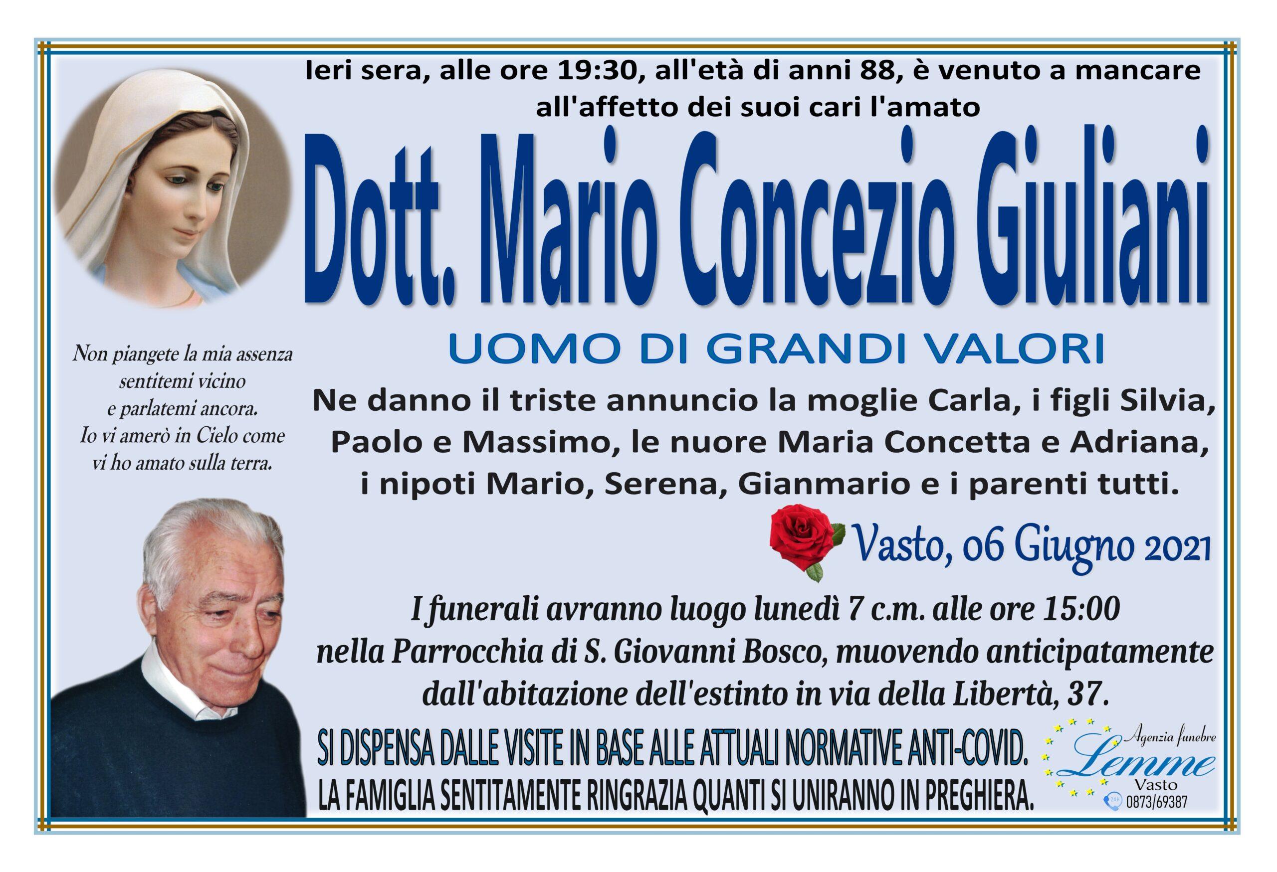 MARIO CONCEZIO GIULIANI