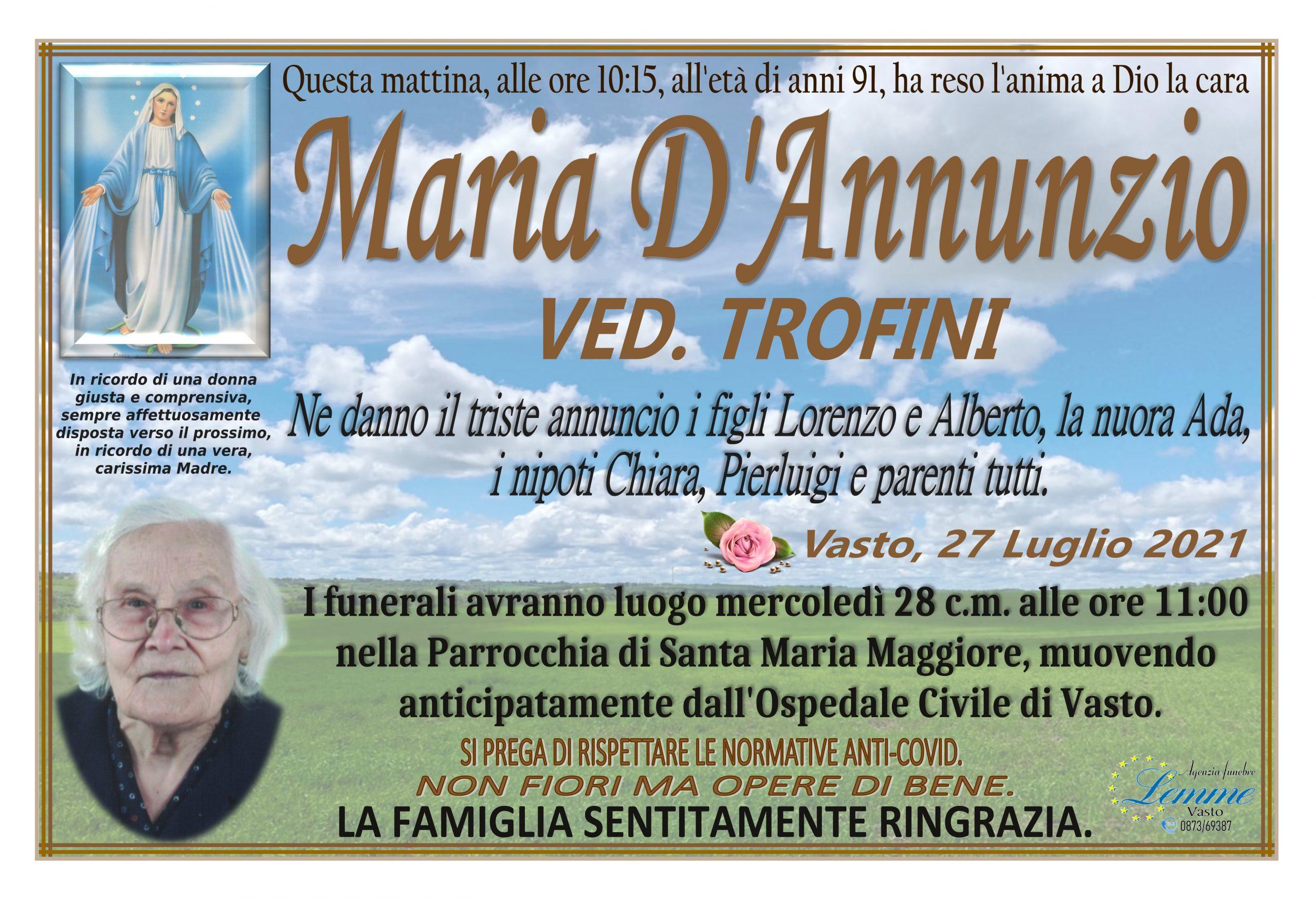 MARIA D'ANNUNZIO