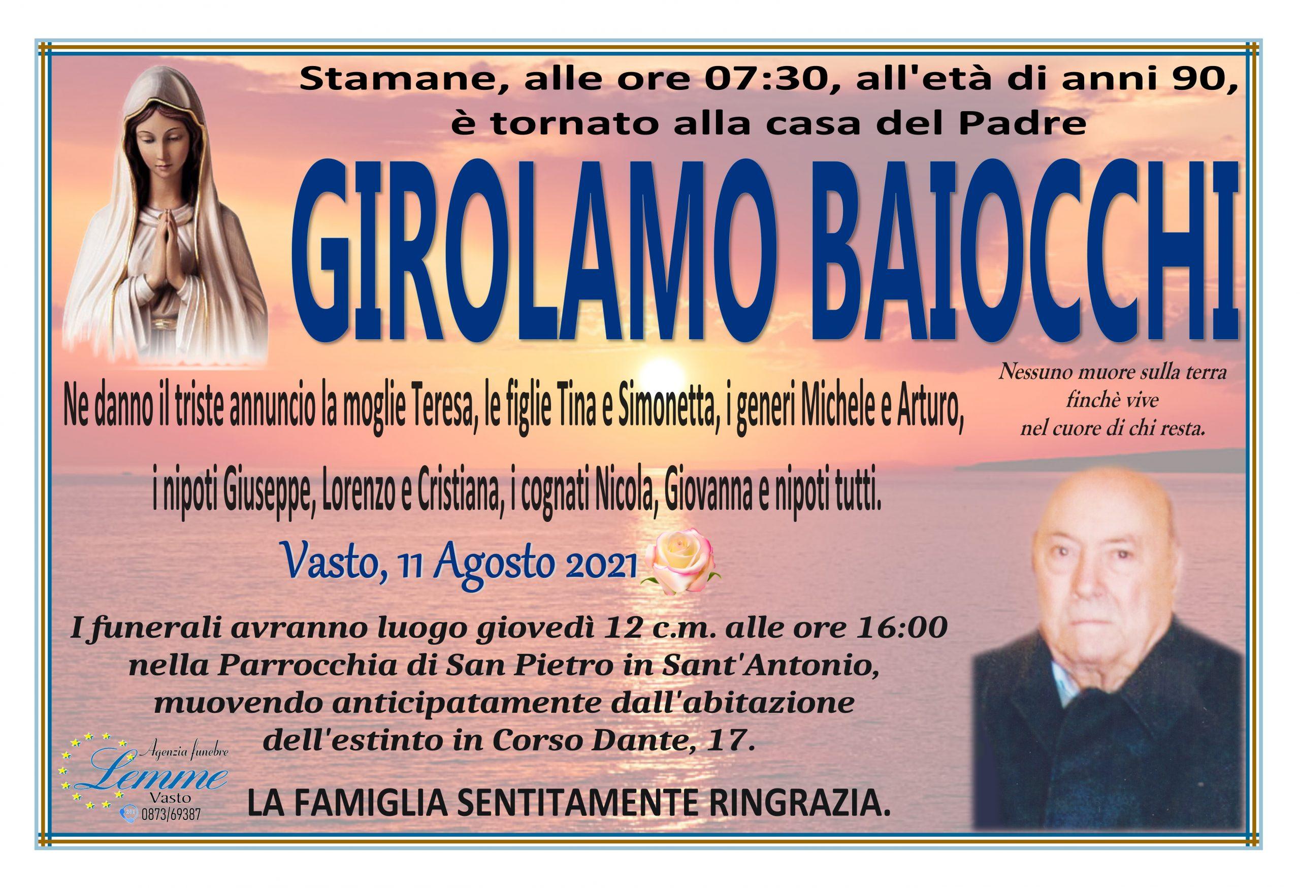 GIROLAMO BAIOCCHI