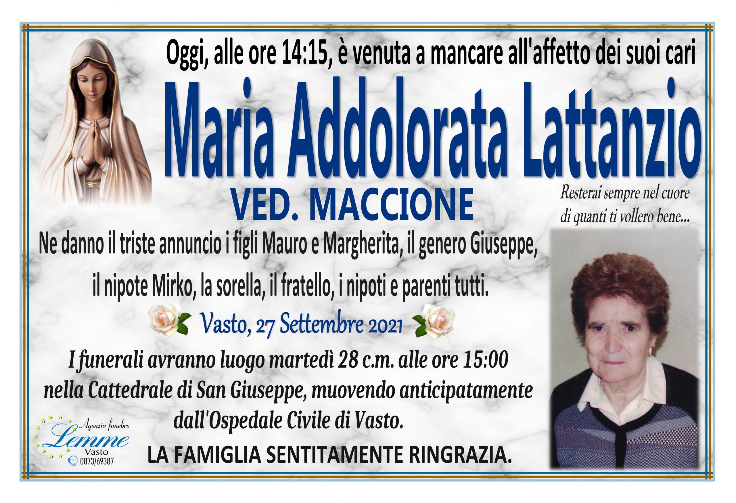 MARIA ADDOLORATA LATTANZIO