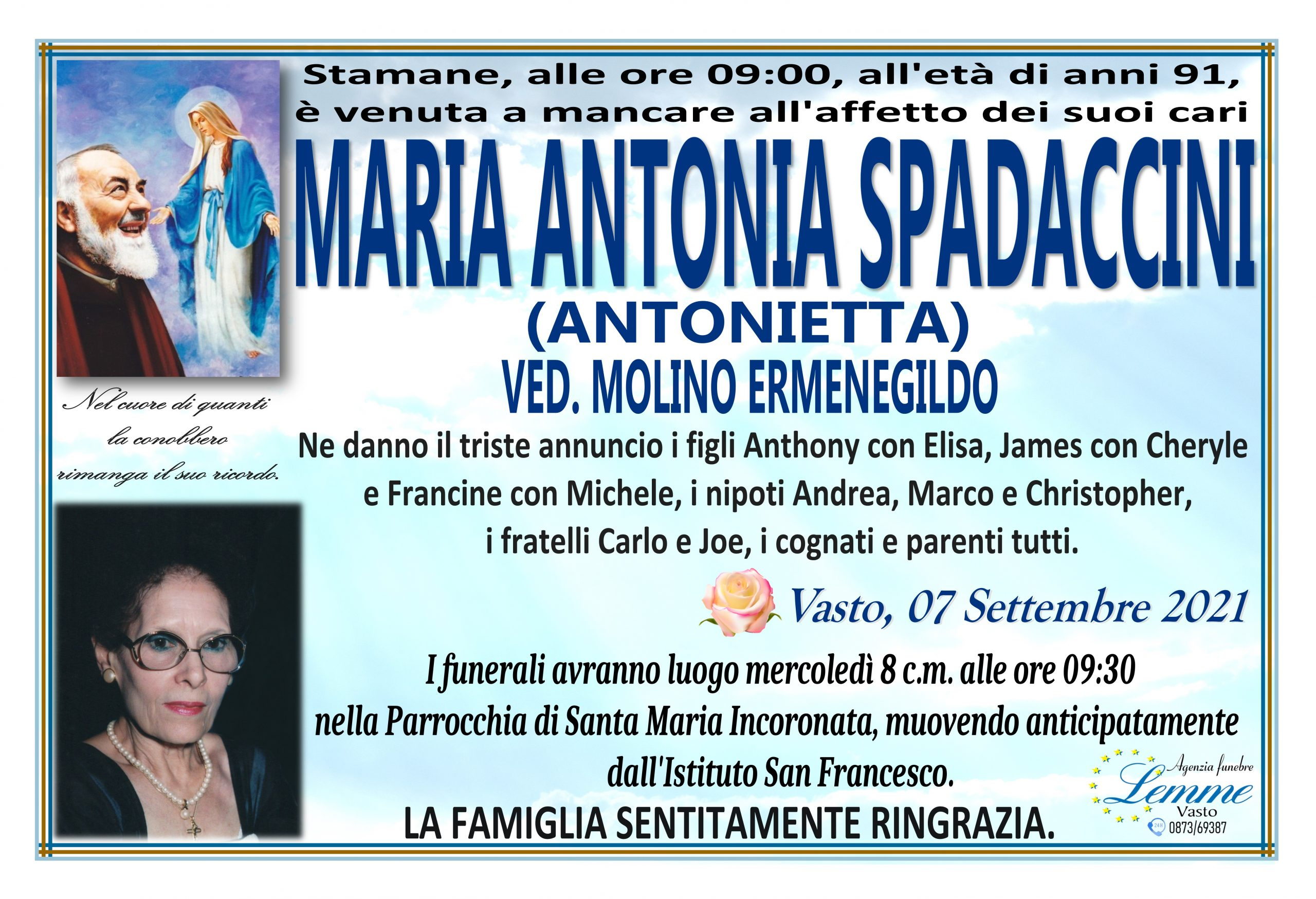 MARIA ANTONIA SPADACCINI