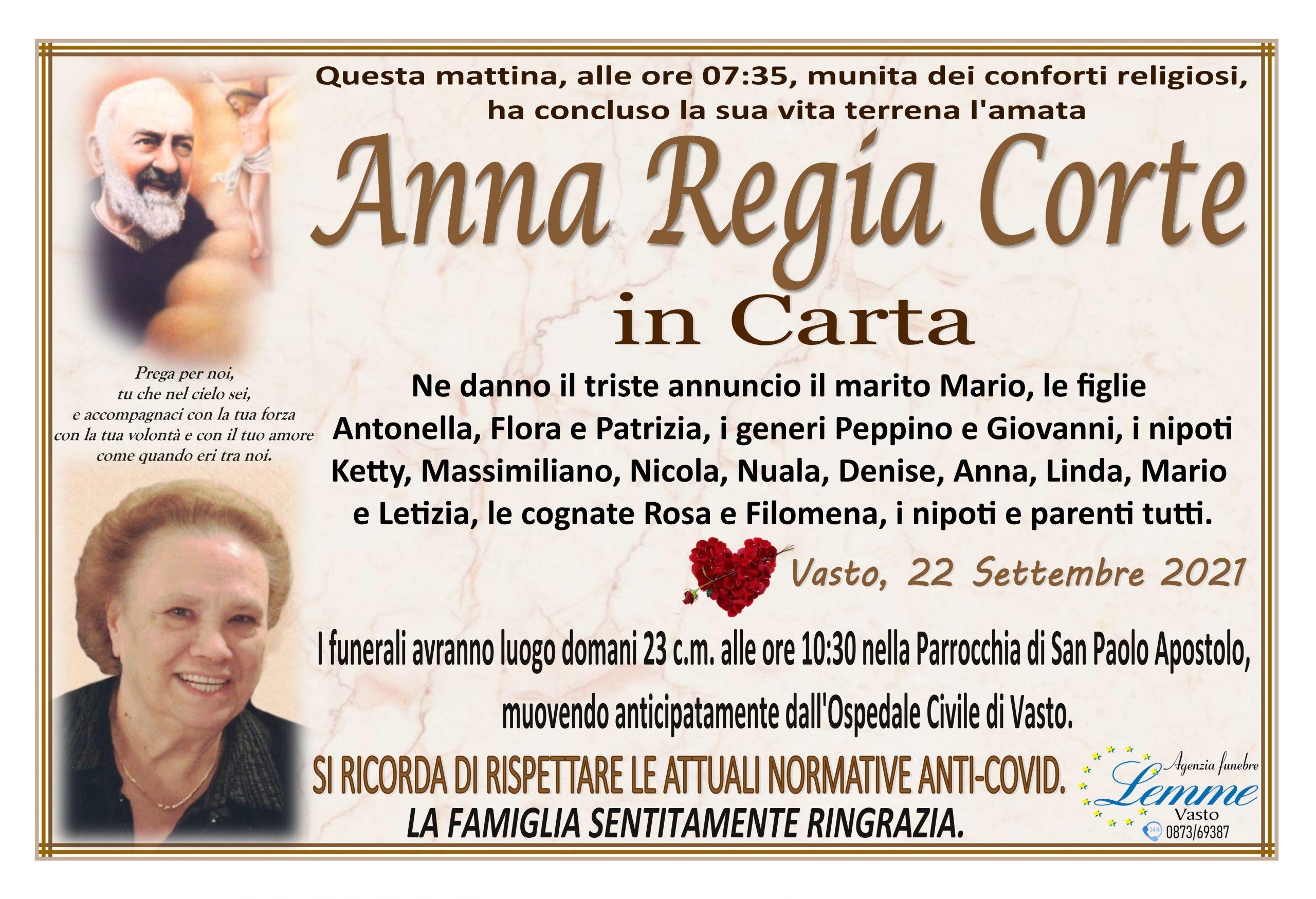 ANNA REGIA CORTE